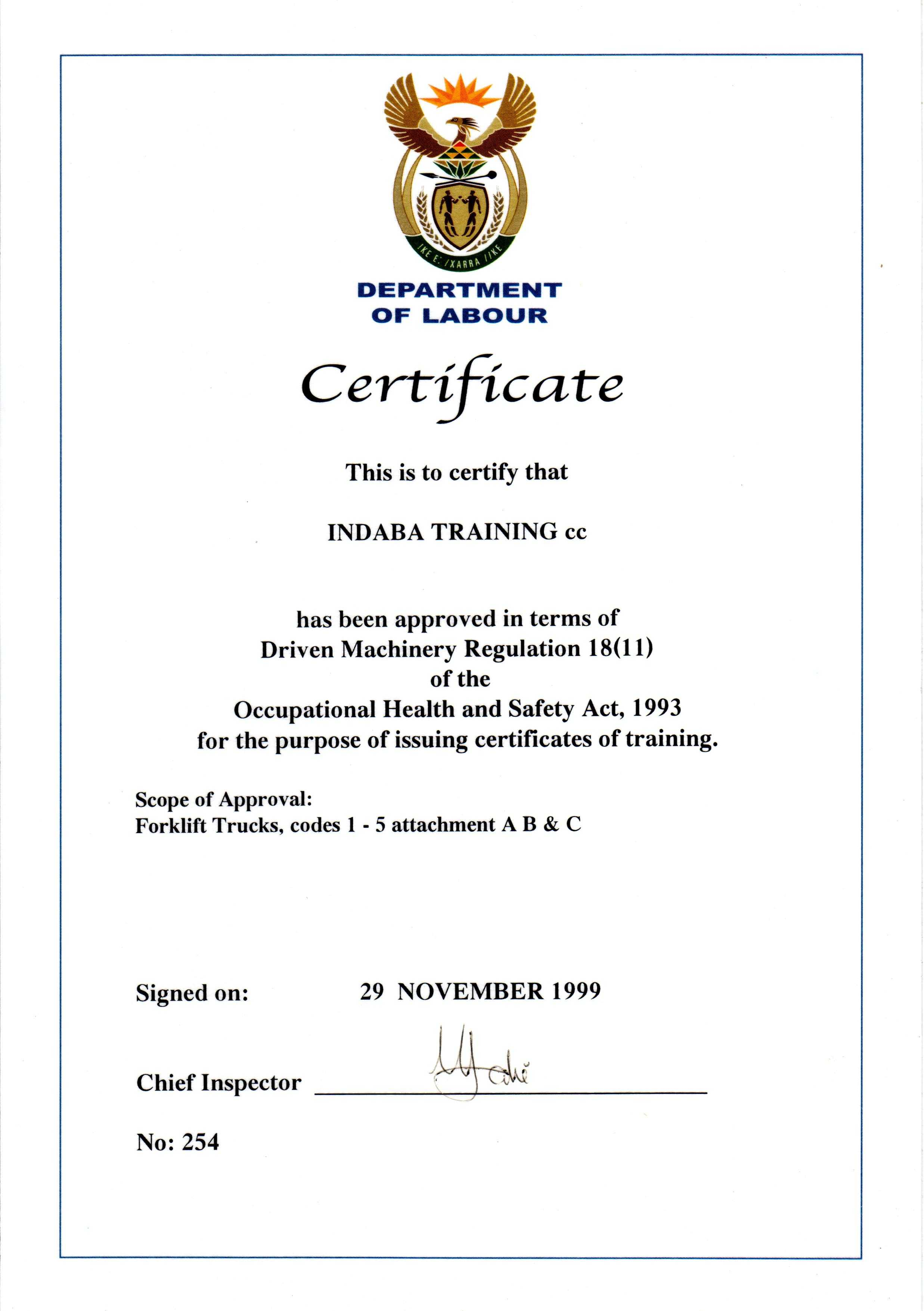 Indaba training forklift truck codes 1 5 1betcityfo Image collections